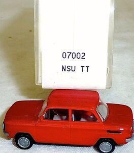 NSU-tt-voitures-rouge-rubis-Mesureur-EUROMODELL-07002-h0-1-87-OVP-ll-1-a
