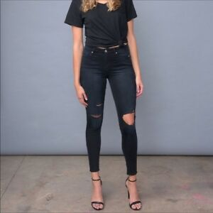 online retailer exclusive shoes arriving Details about NWT Good American Denim Good Legs GAGL899 Blue001 Skinny  Jeans Size:6