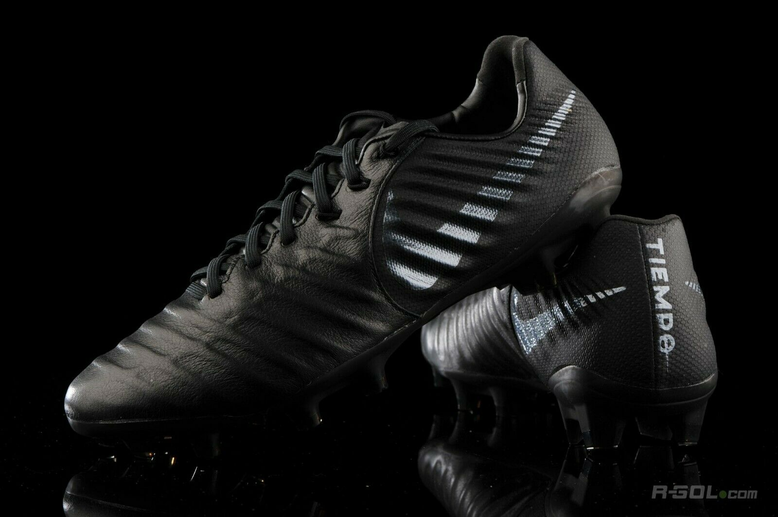 Nike Tiempo Legend 7 VII Pro FG Soccer Cleats Kangaroo Leather Black AH7241-001