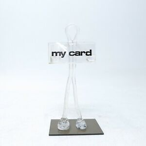 Vintage-Figural-Lucite-Acrylic-Standing-Guy-Business-Card-Holder