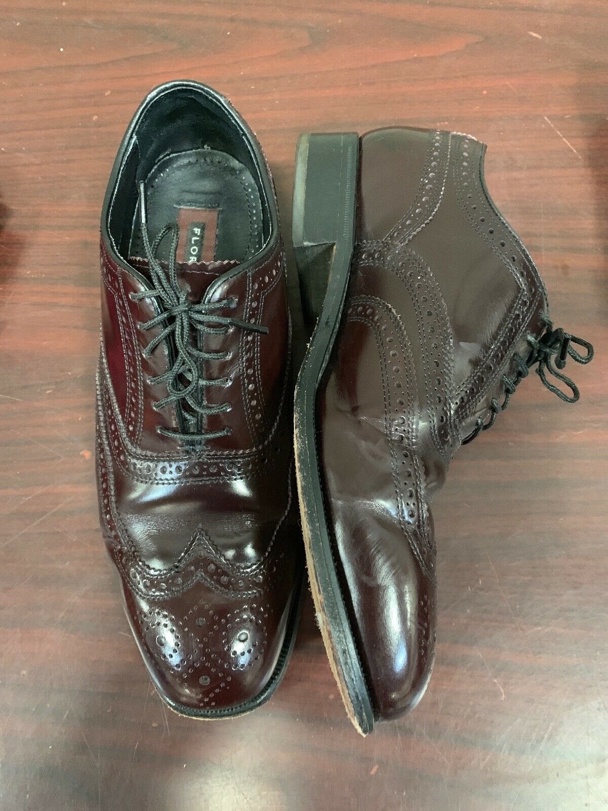 Florsheim Men's Brown Leather Oxfords Lace Up - Size 7 D 11617