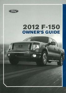 Humoristique 2012 Ford F-150 Owners Manual User Guide