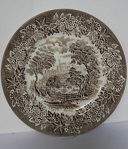 STAFFORDSHIRE 9¾ INCH PLATE MADE BY ENGLISH IRONSTONE TABLEWARE ...