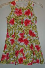 Maggie & Zoe Pink Floral Sleeveless Lined Cotton Spring Dress 8 Panel Skirt 6X