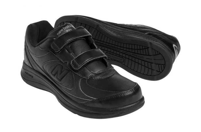 Mens New Balance Hook and Loop Walking shoes WW577VW Black  Leather 2E wide 10