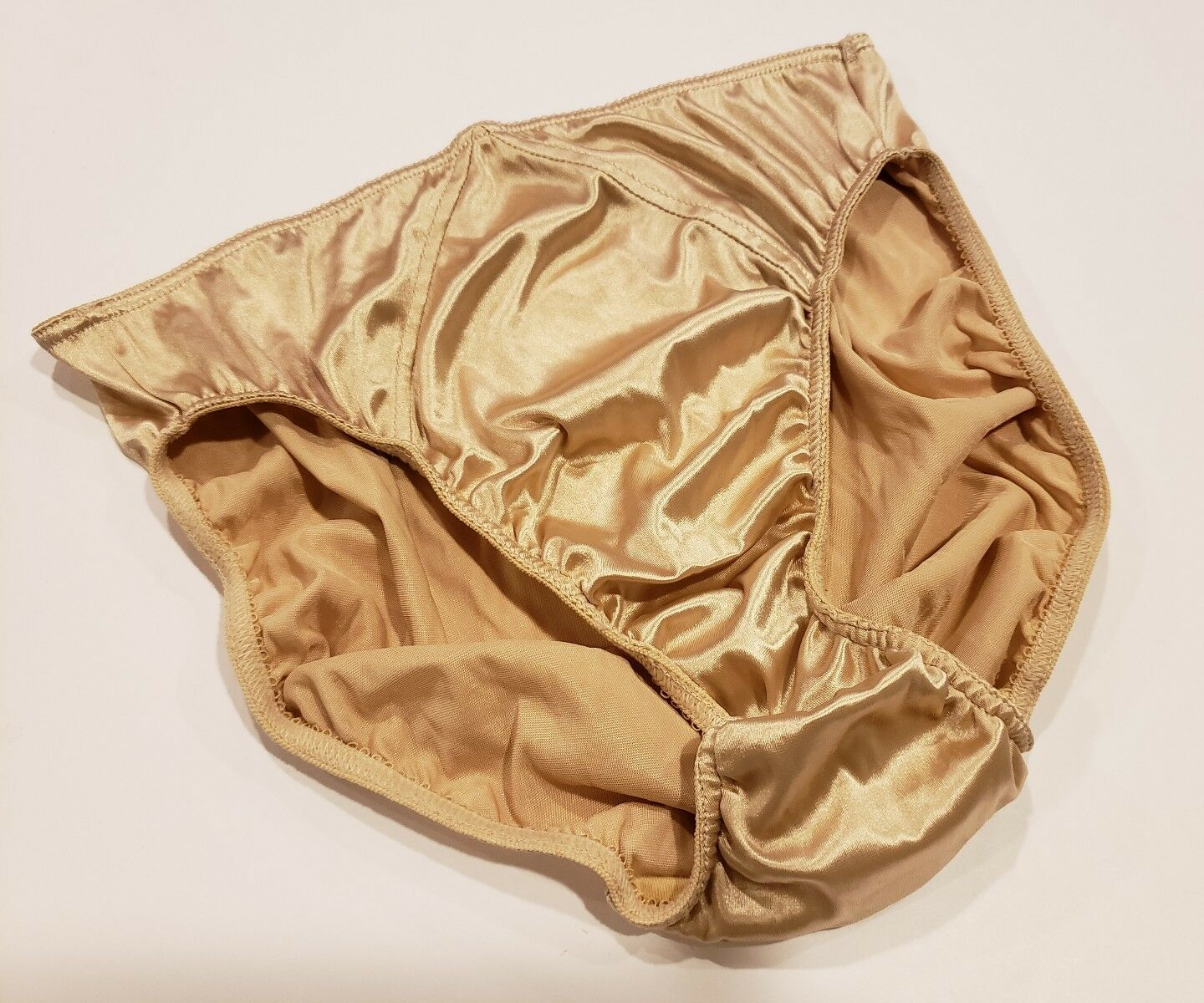 Victoria's Secret Second Skin Satin Hipster Large gold NWT Panties