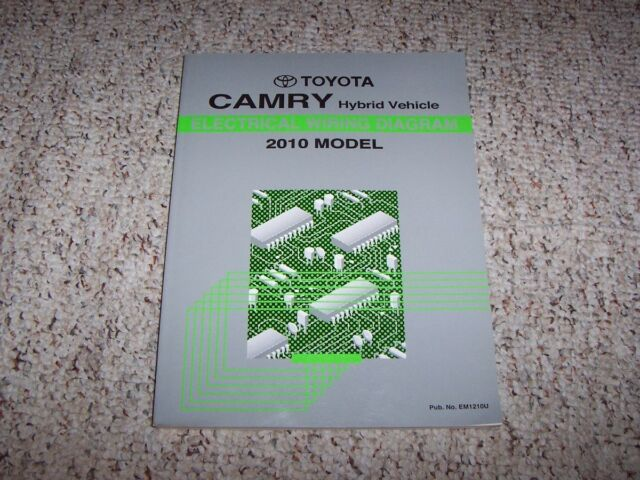 2007 Camry Hybrid Electrical Diagram Manual