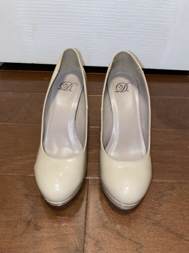 Worn Pumps Women Nude Shoes