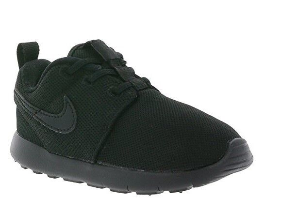 452617a64ffdf Nike Roshe One Toddlers 749430-031 Black Mesh Athletic Shoes Baby Size 5