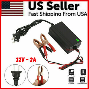 Portable 12V Auto Car Battery Charger Tender Trickle Maintainer Boat Motorcycle