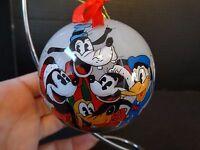 Disney Midwest Cannon Falls Glass Ornament Mickey Minnie Pluto Goofy Donald ~NIB