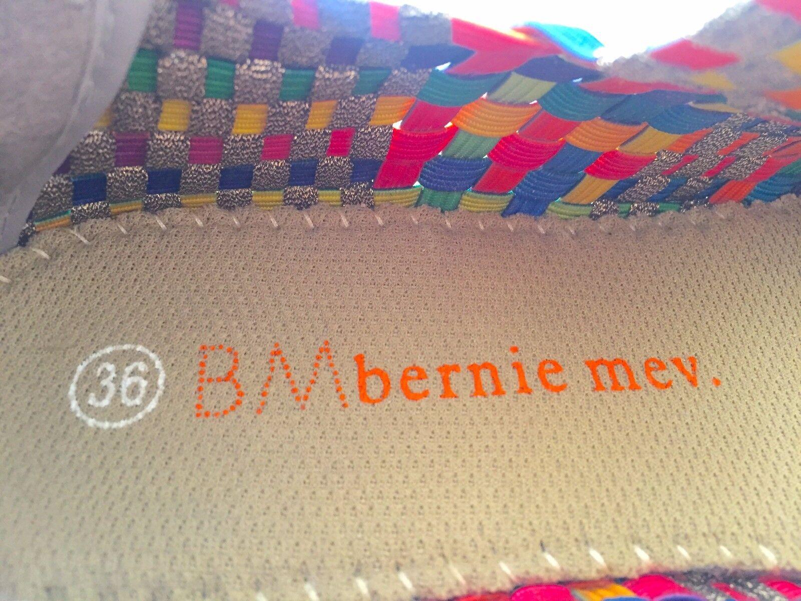 Bernie Mev NEU YORK Lulia Multi Bronze Woven Memory Foam Insole (retails )
