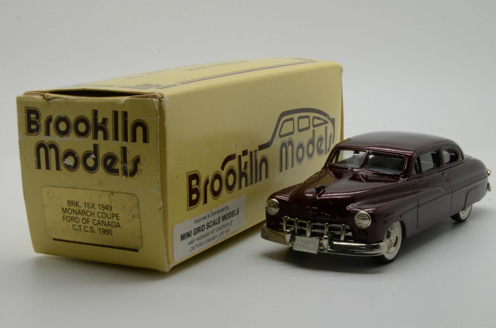 RARE  Ford Monarch Monarch Monarch Coupe 1949 CTCS 1990 Brooklin BRK. 15X 1/43 4159b2
