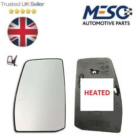 FRONT DOOR  HEATED MIRROR GLASS FORD TRANSIT TOURNEO CUSTOM 2012 ON LEFT HAND