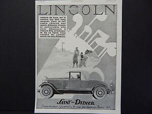 French Automobile Ads, Vintage c.1929 Lincoln Saint-Didier | eBay