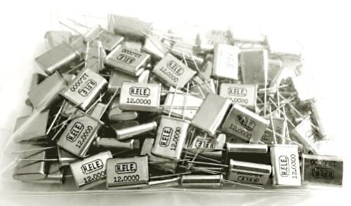100 piece lot 12.0000 MHz Quartz Crystal Resonators Harmony Electronics HC49-U