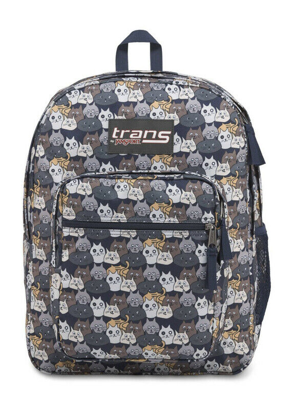 """'Catty Crowd' Trans By Jansport 15"""" Laptop Sleeve Backpack NEW w/Tags Ships Fast"""