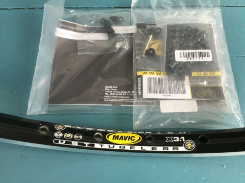 1 pair of New Mavic X 3,1 Maxtal UB SUP UST Tubeless rims  26 in 32 holes black