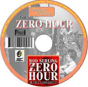 The Zero Hour - 133 Old Time Radio Shows - Rod Serling Audio MP3 2 CDs
