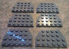 New LEGO Lot of 4 Dark Bluish Gray 4x6 Flat Building Plate Pieces