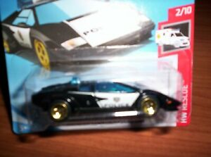 LAMBORGHINI-COUNTACH-POLICE-HOT-WHEELS-SCALA-1-55