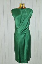 AEFFE SPA Kleid Seidenkleid Cocktail-Kleid Seide Grün Schmal Kurzarm Gr.38