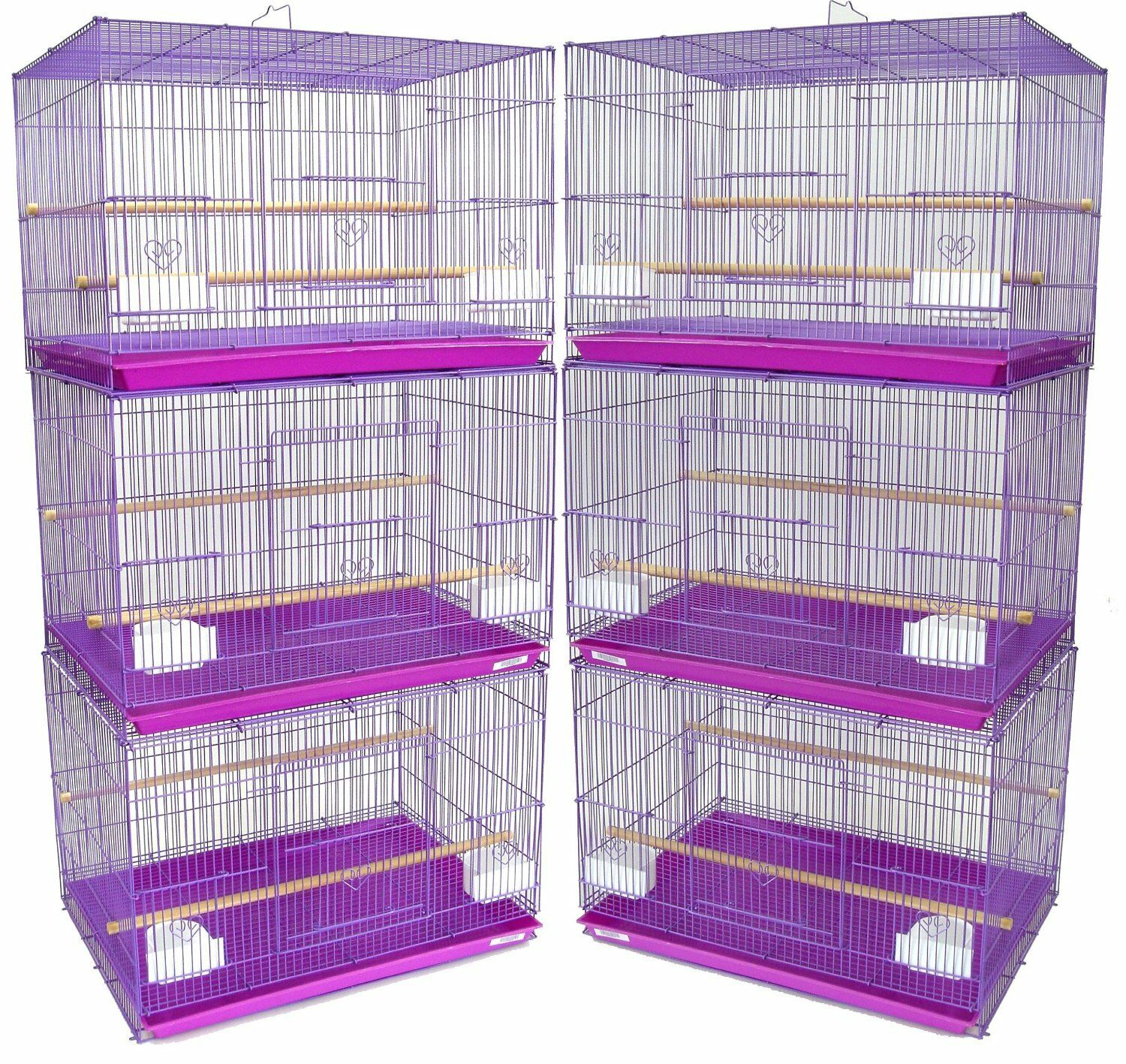 Lot of 6 Lavender Aviary Canary Breeding Breeder Bird Cages 24x16x16 H --257