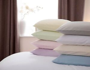 100-Brushed-Cotton-Flanelette-Pair-Pillow-Housewife-Cases-All-Colours
