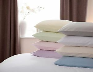 100-Algodon-Cepillado-Flanelette-par-Almohada-Ama-De-Casa-casos-todos-los-colores