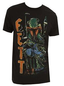 Star-Wars-Boba-Fett-Blaster-Ready-Black-Men-039-s-T-Shirt-New