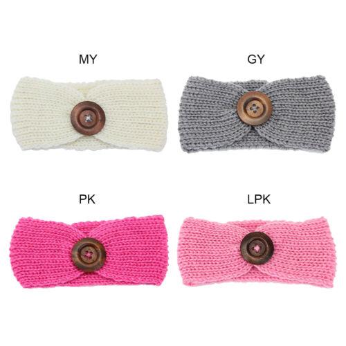1//4Pcs Baby Toddler Girls Crochet Headband Knit Hair Band Headwear Head Wrap UK