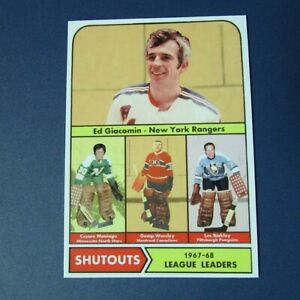 Ed-Giacomin-Cesare-Maniago-Gump-Worsley-Les-Binkley-CUSTOM-1968-69-Topps-1967