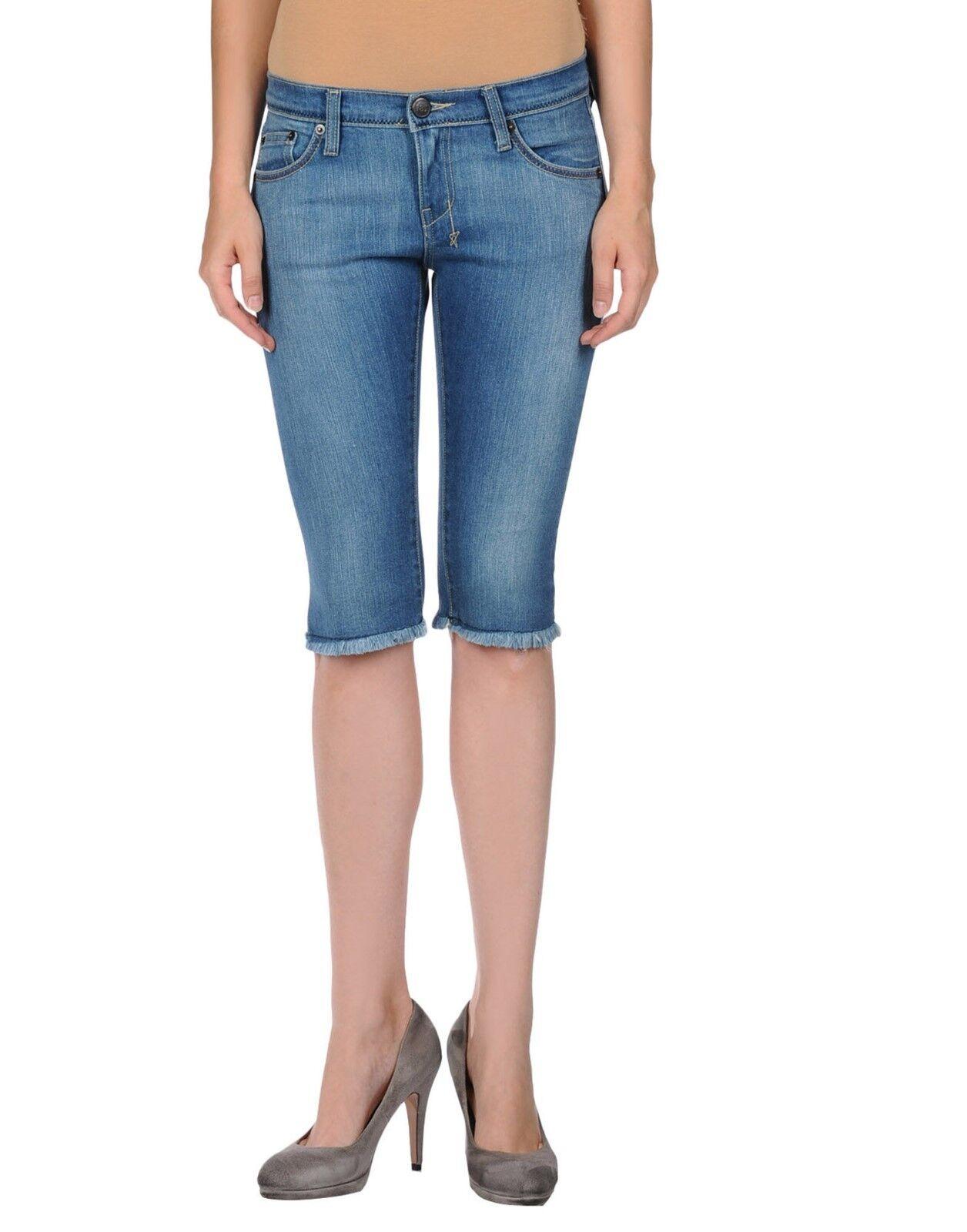 18th Amendment Monroe Bermuda Jean Shorts bluee MADE in AUSTRALIA - W26 L13