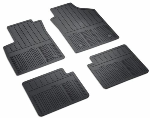 Set 4 tappetini in gomma Fiat 500 originali con pin 2 2 50927864