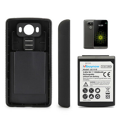 10500mAh Mbuynow Extended Replacement Battery + Back Cover for LG V10 BL-45B1F