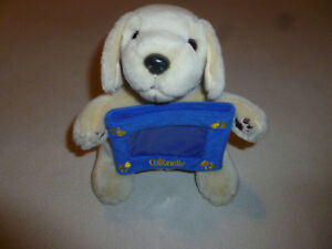 Promo Cottonelle Puppy Dog Plush Picture Frame Stuffed Animal Golden
