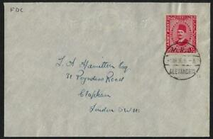 EGYPT-1936-ARMY-POST-OFFICE-SG-A13-KING-FUAD-10-MIL-TIED-FIRST-DAY-OF-ISSUE-1-3