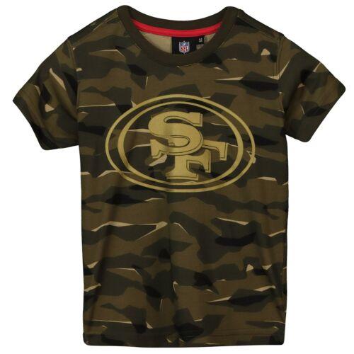 NFL San Francisco 49ers Camo Short Sleeve T Shirt Khaki Kids Fanatics