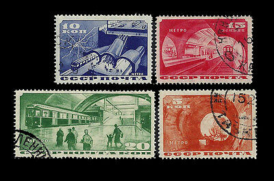 Russia.  Completion of Moscow Subway. 1935. Scott 551-554. Used