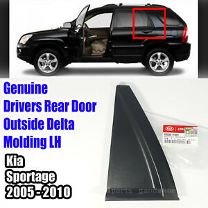 Exterior OEM Exterior Drivers Rear Door Outside Delta Molding for KIA 2005-2010 Sportage
