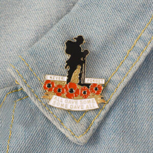NEW-SOLDIER-POPPY-LAPEL-PIN-ENAMEL-BADGE-NEVER-FORGET-BROOCH-2019-UK-US-ARMY-DAY
