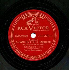 "JAN PEERCE on 12"" 1948 RCA Victor 12-0376 - Eili Eili / A Cantor For a Sabbath"