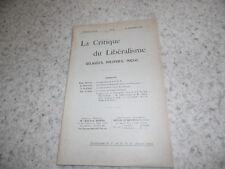 1908.Critique du libéralisme religieux politique social.N°5.Emmanuel Barbier