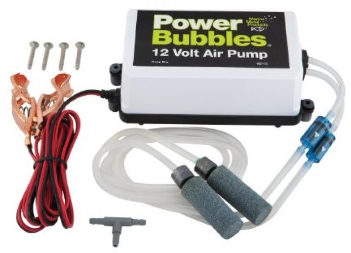 Marine Metal Power Bubbles 12-volt Air Pump, aerator pump Fishing sport Angling
