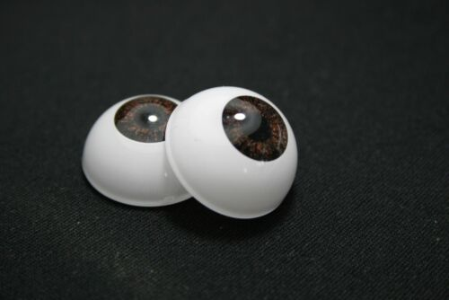 Reborn doll acrylic eyes 22 mm 1 pair brown for bjd crafts