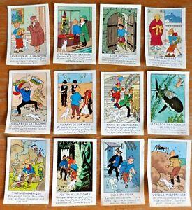 TINTIN-12-Chromos-Les-albums-de-Tintin-et-Milou-1976-HERGE