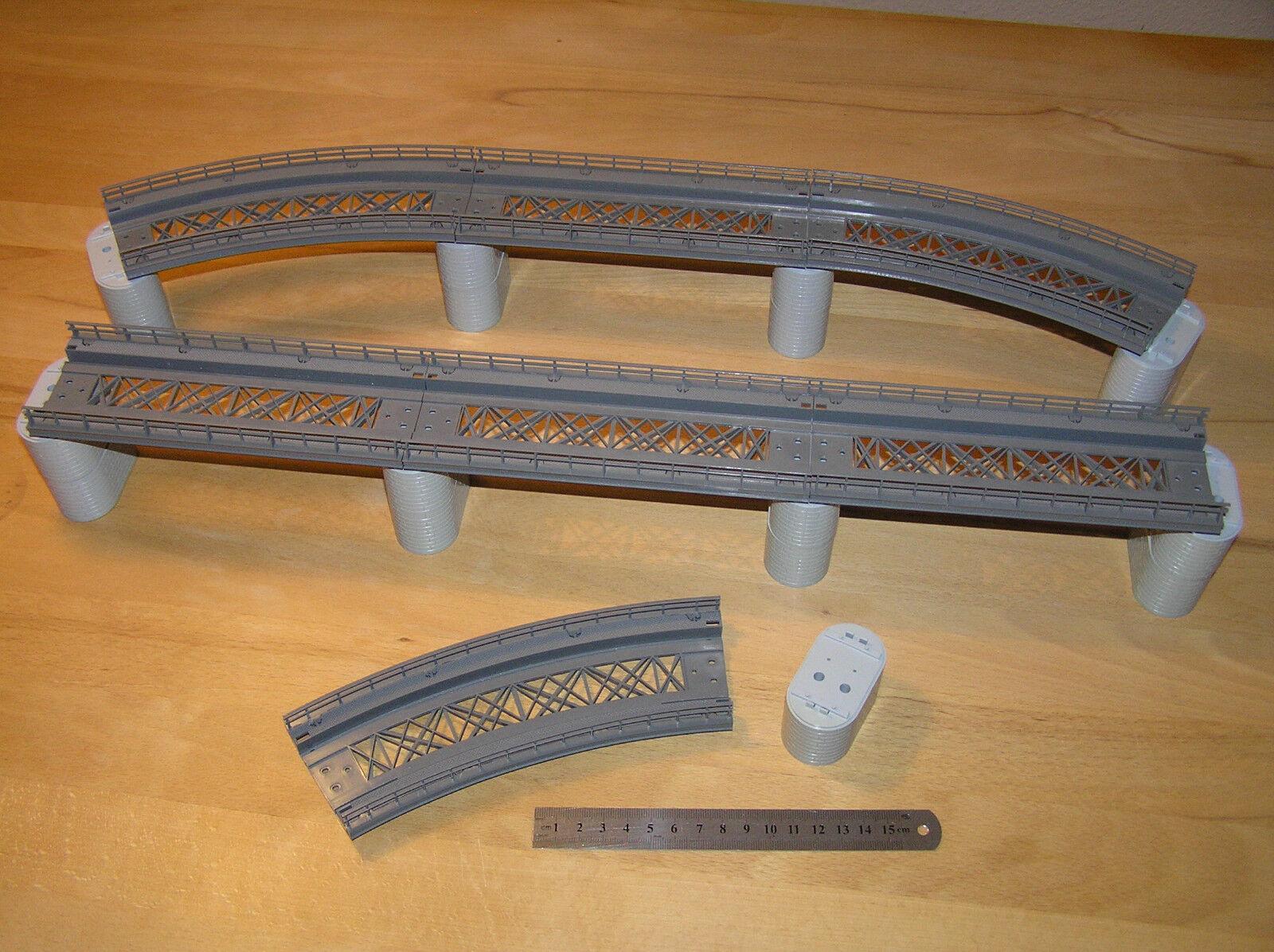 Märklin h0 7253 7267 7268 + puente ferroviario + 24 piezas + Top estado