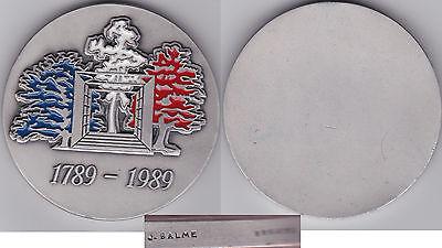 Fein Frankreich Farbmedaille V. J. Balme Auf 200 Jahre Franz. Revolution 1989, Bronze 100% Hochwertige Materialien