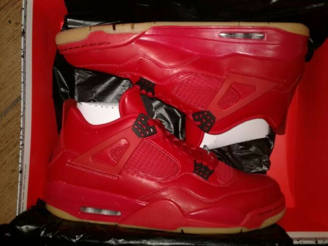 Womens Air Jordan Retro 4 IV NRG Singles Day Fire Red White Black AV3914-600