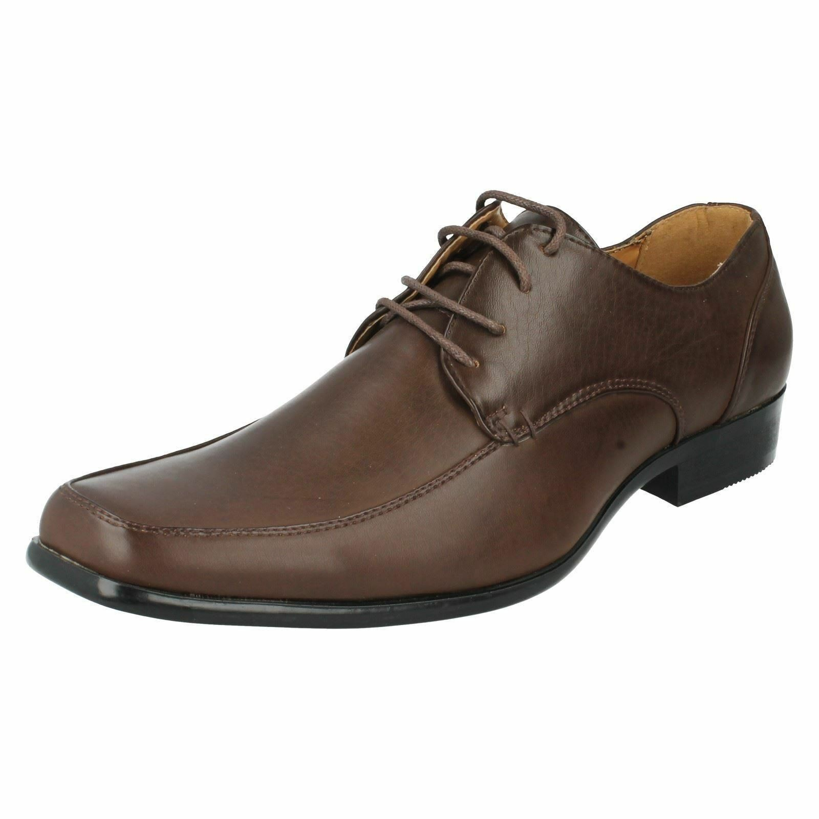 MAVERICK MARRONE a2r065 UOMO SIMILPELLE MARRONE MAVERICK Scarpe stringate (64b) ( 7c8325